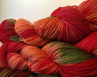 Rosy Apple cider sock yarn