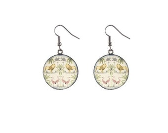 Round savannah image earrings