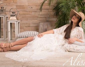 Bohemian silk wedding dress Gabrielle collection Alisa Boho Dream