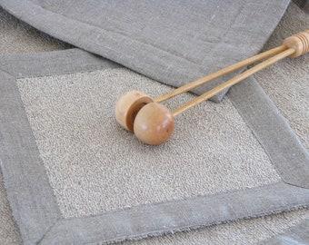 Linen Terry Bathmat / Bath Rug / Soft / Ecru