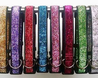Glitter Dog Collar - Adjustable Dog Collar - Sparkly Dog Collar - Sparkles Dog Collar - Sparkle Dog Collar