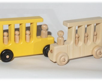 Wood Toy School Bus (Can be Personalized)