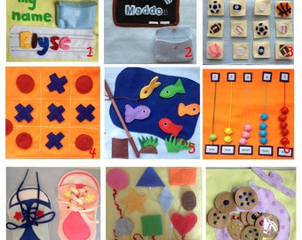 Felt Quiet Book, Busy Book, Quiet Book for toddler, Activity Book, Travel Quiey Book, Fun toy & gift for children