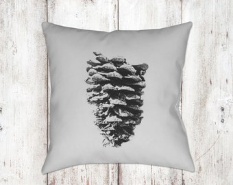 Pine Cone Decorative Pillow - Throw Pillows - Black & White Decor - Neutral Decor - Gifts - Christmas Decor - Sofa Pillows - Nature