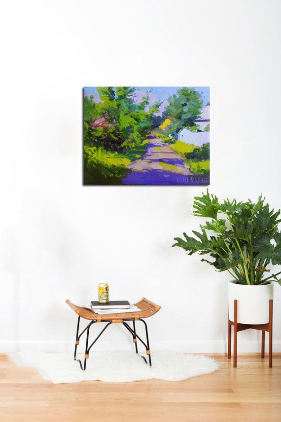 Moderne Landschaftsmalerei Sommer Gemälde Landschaft