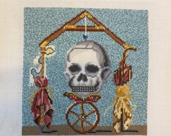 Roman Scales Mosaic Cross-Stitch Pattern