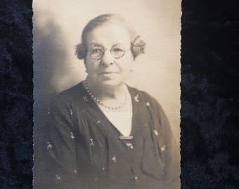 Vintage Photo Middle  Age Women