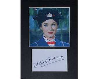 Julie Andrews Mary Poppins signed autograph 8x6 inch mounted photo print display