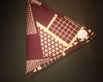 Origami wallet in chocolate and beige wax