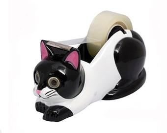 Black and White Cat Tape Dispenser