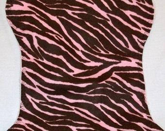 Pink Zebra Burp Cloth and Bib Set