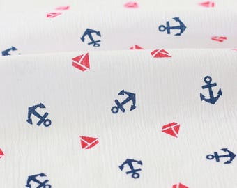 Japanese cotton crepe fabric soft spirit on a white x 50cm