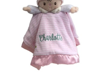 personalized doll claire Lil' snuggler snuggler, doll blankie, doll with name, doll security blanket, personalized gift, baby shower gift