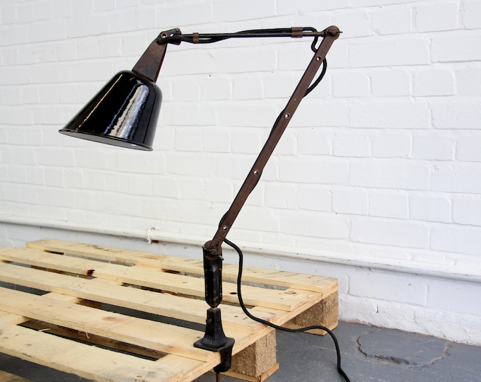 Clamp On Task Lamp By Walligraph Circa 1940s