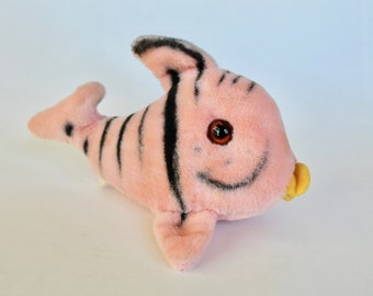 Vintage 1960s Mohair Pink Tropical Fish Plush Toy/Stuffed Animal!