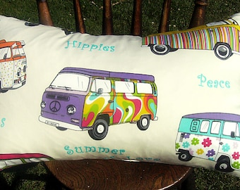 Sale pillow cover, retro pillow cover, decorative pillow cover, camper pillow cover, campervan pillow cover, lumbar pillow cover