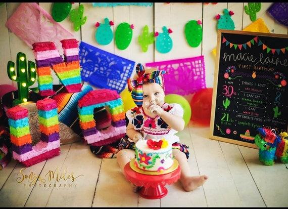 Serape Fiesta Theme Diaper Cover Ruffles Bloomers