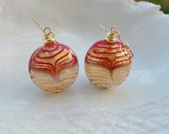 Venetian Murano Filigrana Earrings