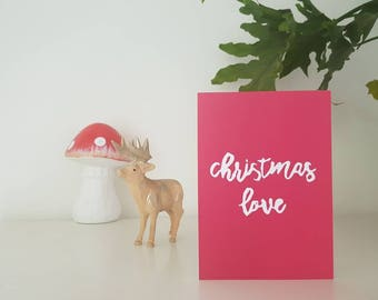CARD; Christmas love card with envelope, designed in Melbourne