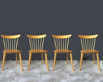Vintage Nesto Scandinavian Modern Farmhouse Chairs By Lena Larsson Set of 4