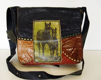 Vintage leather bag.