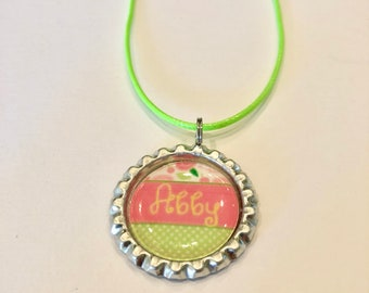 Bottle cap necklace you can customize