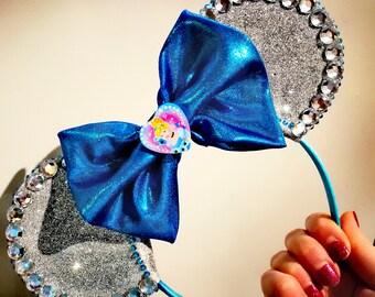 Cinderella princess sparkle minnie ears.