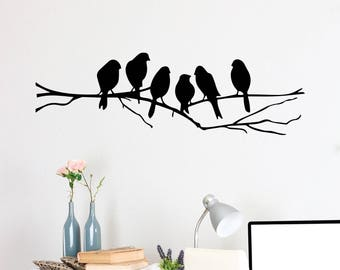 Birds on a Wire 2 Vinyl Decal