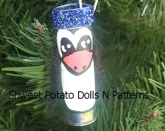 Shotgun Shell Penguin Ornament Ornie Upcycle