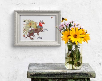 Gryphon Griffin Fine Art Print - Fantasy Mythical Animal //13 x 19, 11 x 14, 8.5 x 11, 8 x 10, 5 x 7