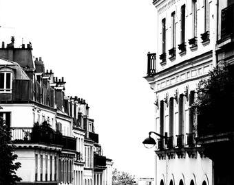 Paris Photography - Black and White Photography - Paris Rooftops - Wall Art Print - Paris Decor - Architecture  - Parisian Style B/W - 0036