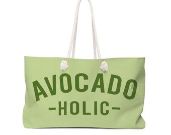 Avocado Beach Tote Bags - Avocadoholic - Oversized Beach Bag  - Tote Bag - Weekender Bag
