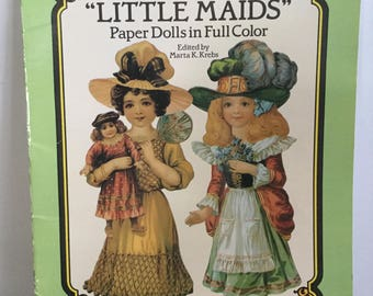 Little Maids Paper Doll Book designs by Raphael Tuck