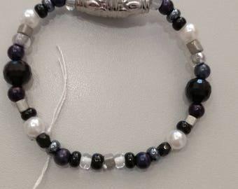 Black White grey bracelet