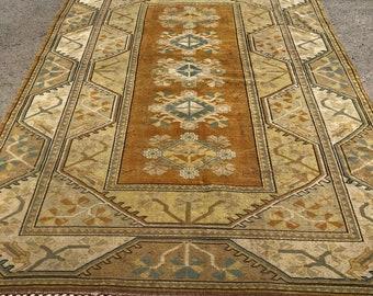 "116"" x 82"" rug, pastel rug, decorative rug, vintage rug , area rug, big rug, turkish deco rug"