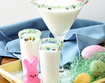 Easter Candy Cocktail rim sugar - drink garnish for Easter brunch drinks or Easter basket goodies