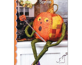 Pattern ''Pumpkin Sprite'' Soft Sculpture Decoration Sewing Pattern by Crab-apple Hill Studio (CAH343)