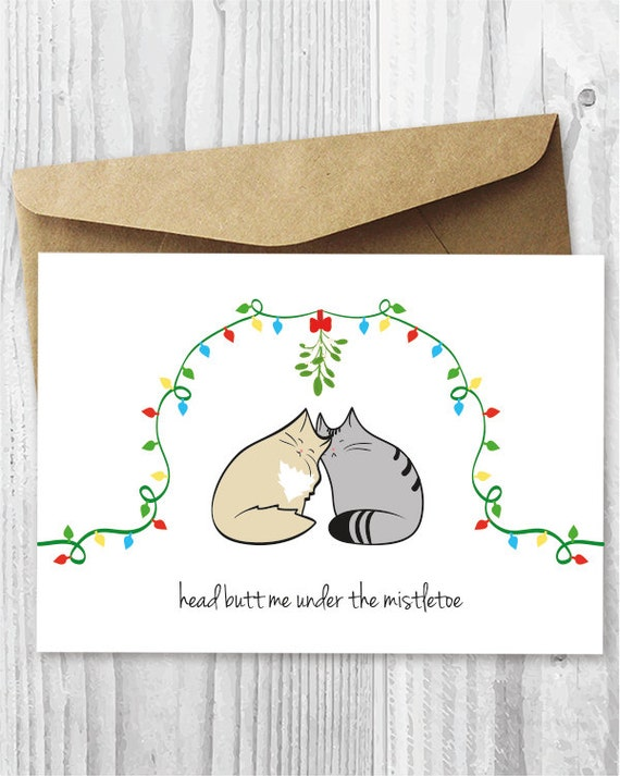 Christmas cards printable christmas cat cards love cats m4hsunfo
