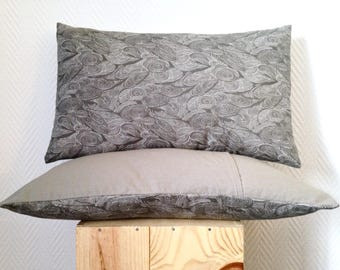 Cover pillow gray natural and warm