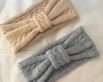 Hand Knit Wool Headbands