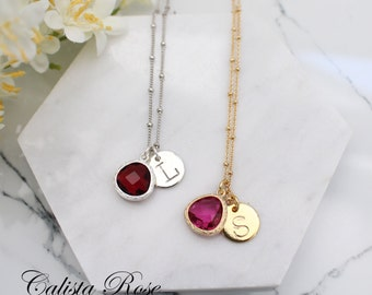 Custom Initial Necklace Alphabet Necklace Initials Necklace Minimalist Necklace Birthstone Necklace Bridal Jewelry Monogram Necklace