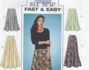 Butterick fast and easy skirt pattern #4136, Sizes 20-24