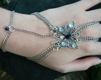 butterfly hand chain butterfly braceletbutterfly slave bracelet gemstone cosplay gypsy boho hippie gothic and fantasy style