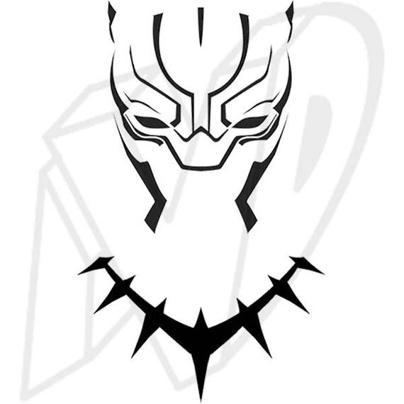 Black panther mask decal black panther decal wakanda