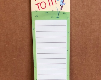 Hop To It Magnetic Notepad