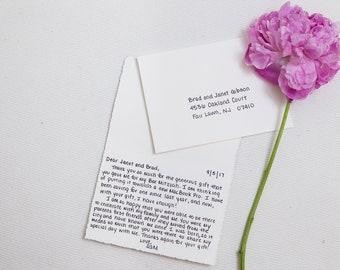 Handwritten Bar/Bat Mitzvah Thank You Notes - Personalized/Custom