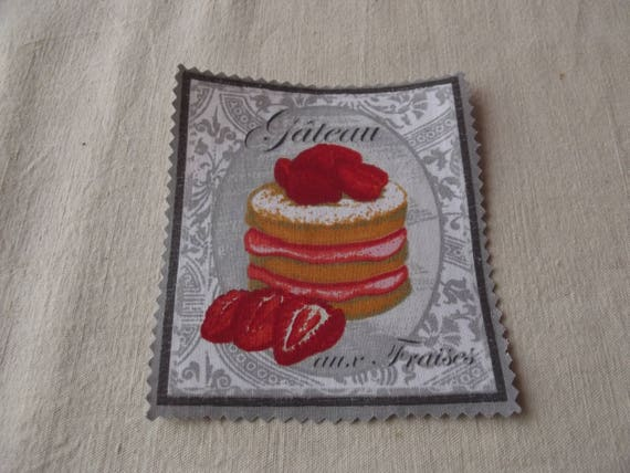 20 - APPLIQUE FUSIBLE COTTON BAKING PASTRY