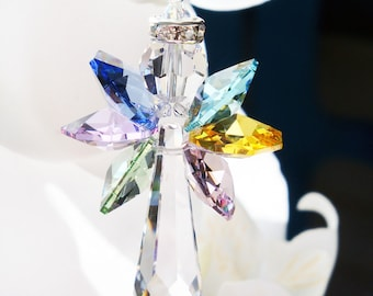 Swarovski Crystal Rainbow Angel Suncatcher, Hanging Crystals, Prism Suncatcher, Window Sun Catcher