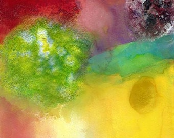 Watercolor Painting, Abstract Art, Grow Together