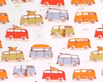 Heather Ross - Munki Munki Fabric - VW Campers - OOP Out Of Print Rare VHTF